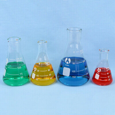 Erlenmeyer Flask Set - 50 100 125 250 Ml Flasks