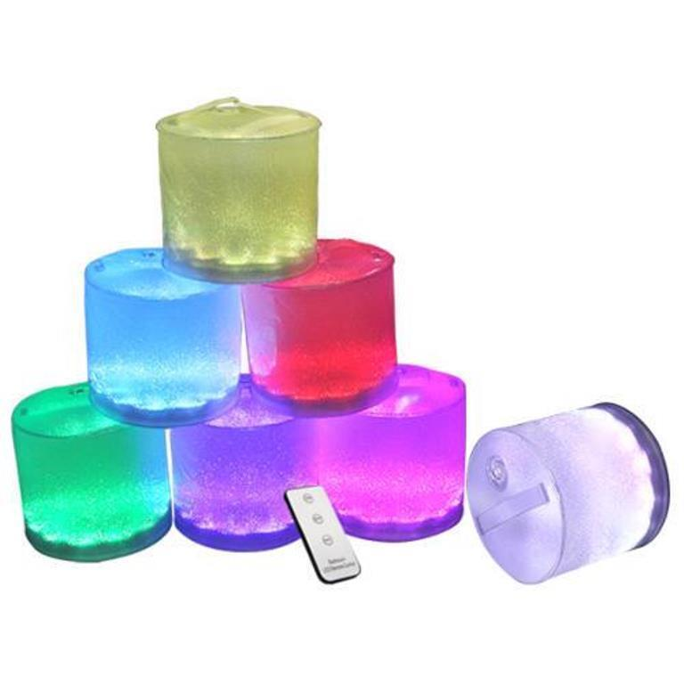 Aufblasbare LED Laterne Solarleuchte 7 Farben Camper,Wa… | 04250884929331