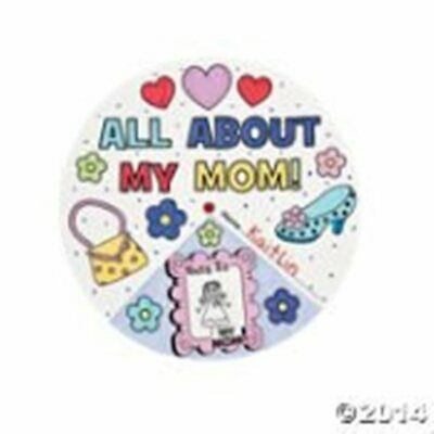 "Color Your Own ""All About My Mom!"" Arts & Crafts/Mother's Day/Project/Activities - Mother's Day Projects"