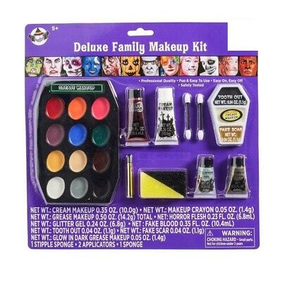 Halloween Deluxe Family Makeup Kit Paint New Free Ship Easy to Use Easy Off - Easy Makeup Halloween