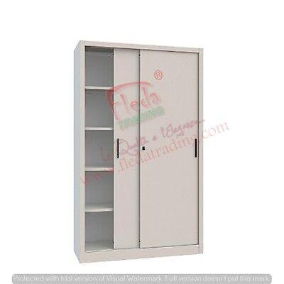 Armadio in Metallo Ufficio / Archiviazione Ante Scorrevoli Dim. 120x45x200h cm