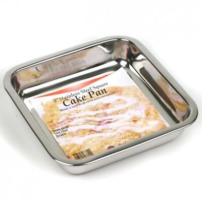 Norpro 8 Inch Stainless Steel Square Cake Pan, 3814