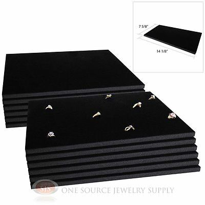 12 Black Ring Display Pads Holds 72 Slot Rings Tray Or Case Jewelry Insert