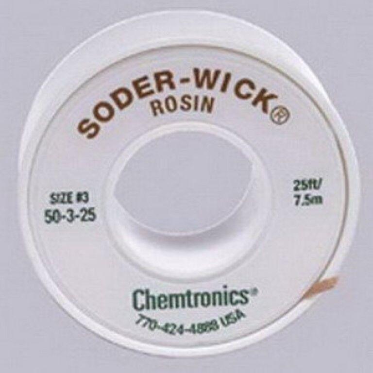 Chemtronics 50-3-25 Soder-Wick Rosin Desoldering Braid