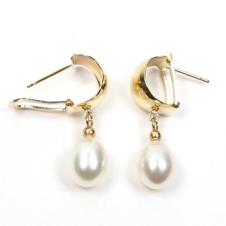 14k white gold pearl earrings ebay