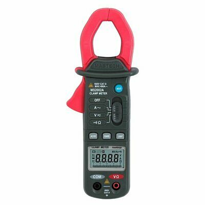 Mastech Ms2002a Digital Clamp Meter 4000 Count Display 3 34 Resistance Tester