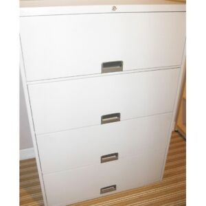 Locking  4 Drawer Lateral File Cabinet with Keys, Delivered