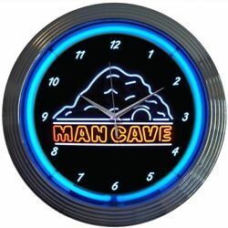 NEW MAN CAVE NEON WALL CLOCK 15 BY NEONETICS 8MANCA