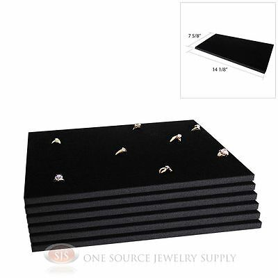 6 Black Ring Display Pads Holds 72 Slot Rings Tray Or Case Jewelry Insert