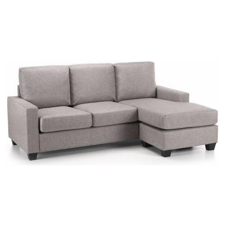 Sofaworld Light Grey Reversible Corner Sofa