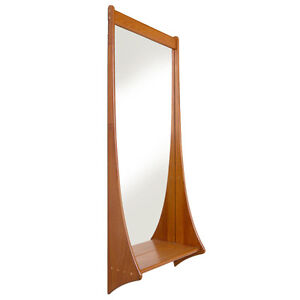 MCM Danish Sculptural Floating Entry Mirror with Shelf