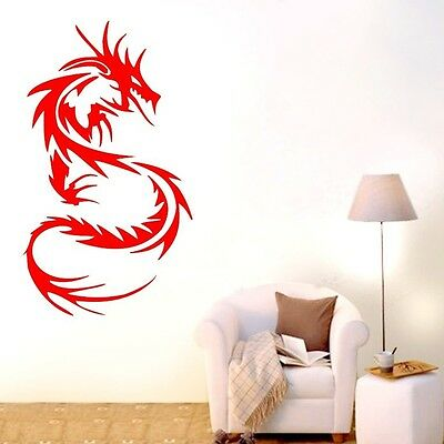 One Abstract Dragon Wall Decor Removable Home Vinyl Decal Sticker Art DIY Mural