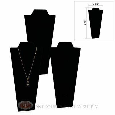 3 Black Velvet 8 78 Padded Pendant Necklace Display Easel Neckform Stand
