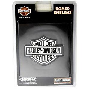 Original Harley Davidson HD Logo Chrom Domed Emblem Aufkleber Decal Sticker NEU
