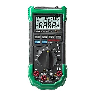 Temperature Humidity Light Lux Sound Level Meter Tester Multimeter 5in1 Ms8229