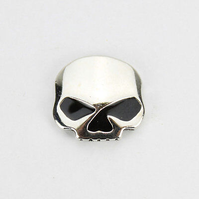 Biker Motorrad Half Skull Totenkopf Schädel Button Pin Anstecker Anstecknadel