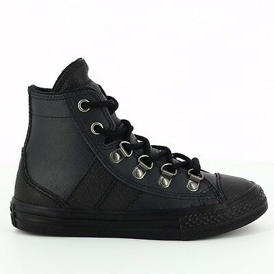 CONVERSE CHUCK TAYLOR ALL STAR SNEAKER BOOT BLACK YOUTH JUNIOR SZ 3-6  640498C