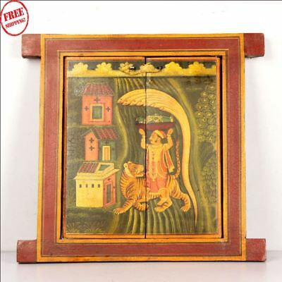 Used, Wooden Handcrafted Scenery Beautiful Hand Painted Picture Wall Window 9735 for sale  Shipping to South Africa