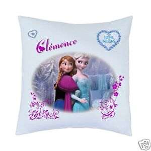 coussin la reine des neiges ref 09 avec prenom ebay. Black Bedroom Furniture Sets. Home Design Ideas