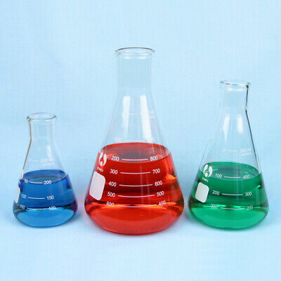 Erlenmeyer Flask Set - 250 500 1000 Ml Flasks