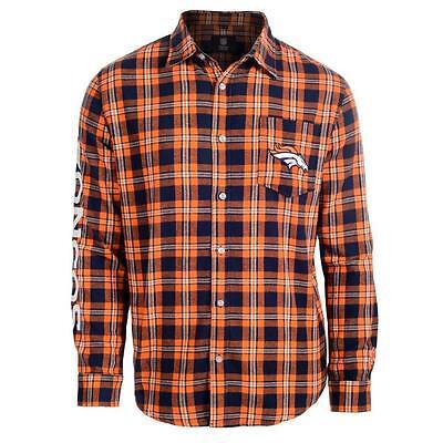 NFL Football Team Logo Mens Long Sleeve Wordmark Flannel Shirt - Pick Your Team!