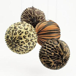 Leopard party decorations ebay for Animal print party decoration ideas