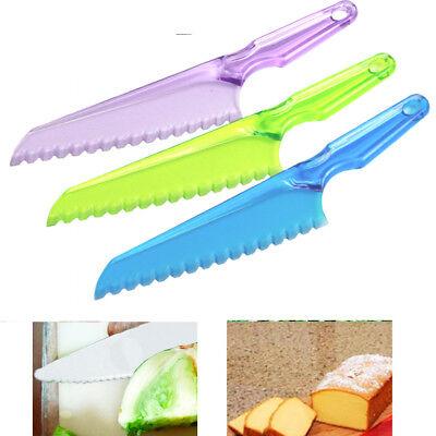 1pc Lettuce Knife Plastic Serrated Cut Bread Salad Cake Blade Utensil Chopper 7