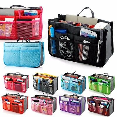 Handbag Liner - Women Lady Travel Insert Handbag Organiser Purse Large Liner Organizer Tidy Bag
