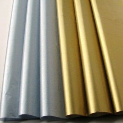 """12~METALLIC SILVER & GOLD TISSUE PAPER GIFT WRAP~6 SHINY SHEETS Each~20"""" x 30"""""""