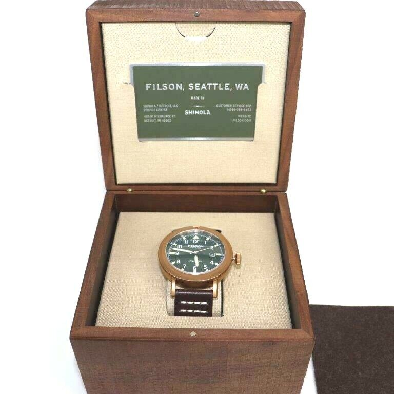 Filson Shinola Scout Watch Cream Dial PVD Bronze New With Tags