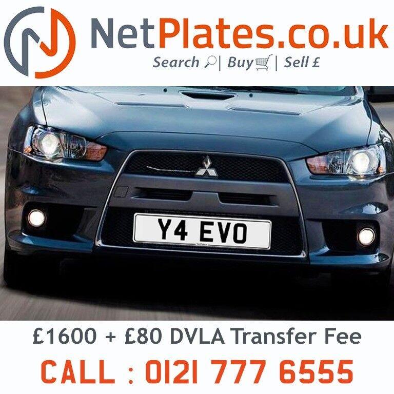 Y EVO NetPlates Cherished Car Registration Plate Private Number - Mitsubishi registration