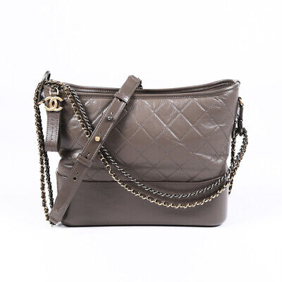 Chanel 2018-2019 Medium Gabrielle Quilted Hobo (Chanel Grey)