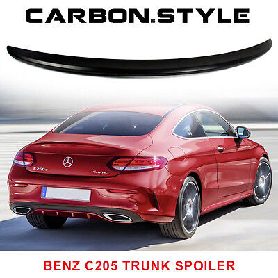 Painted For Mercedes Benz C-Class C205 2D Coupe A Type Trunk Spoiler