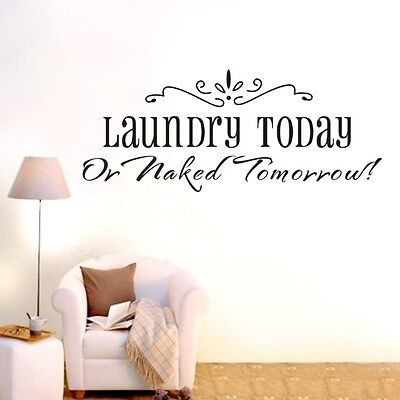 Home Decoration - Laundry Today Tomorrow Wall Quote decals Removable stickers decor home vinyl art