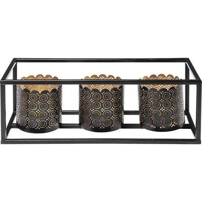Kare-Design-Teelichthalter-Cordoba-Frame-Tre-Kerzenhalter-Orientalisch-Stahl