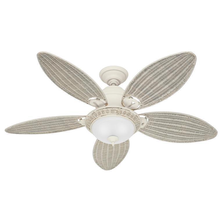 "Hunter Caribbean Breeze 53.9"" Ceiling Fan Textured white 54094"