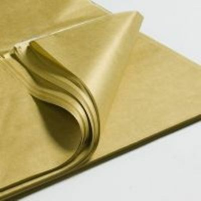 METALLIC GOLD TISSUE PAPER~48 SHEETS~HI QUALITY GIFT WRAP~POM POMS~20x30""