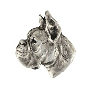 Boxer, silver covered pin, high qauality Art Dog CA - <span itemprop='availableAtOrFrom'>Zary, Polska</span> - Boxer, silver covered pin, high qauality Art Dog CA - Zary, Polska