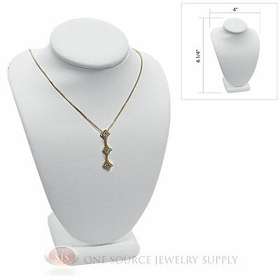 6 14 Pendant Necklace White Leather Neck Form Jewelry Presentation Display