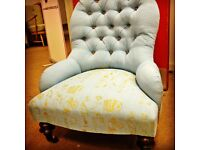 Armchair with bespoke upholstery