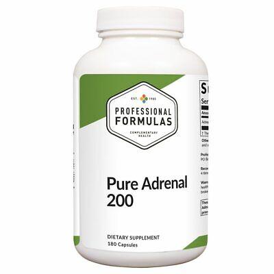 Pure Adrenal 200 Best NEW ZEALAND GLANDULAR 180 Capsules Professional (Best Adrenal Support Formula)