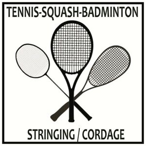 Tennis, squash, badminton racket stringing service