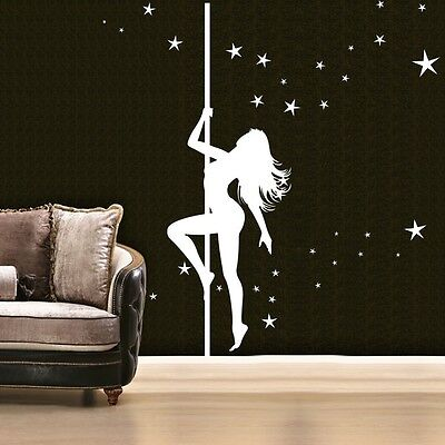 LARGE SIZE DANCING GIRL REMOVABLE HOME Wall Stickers Vinyl Decal Decor DIY