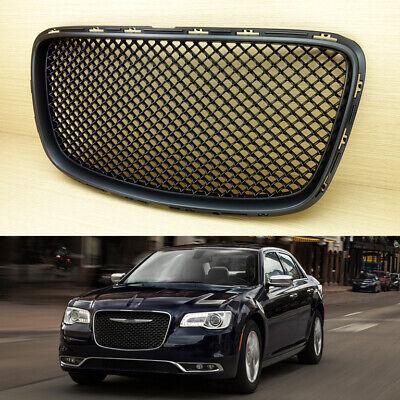 Fit Chrysler 300 300C Front Upper Grill Grille Bentley Style 2015+ Matte Black