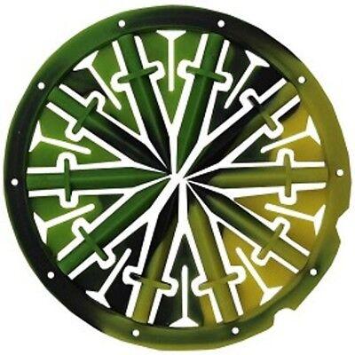 DYE Rotor R1 + LT-R  KM Spine Speedfeed (gelb/grün/schwarz) Paintball Hopper