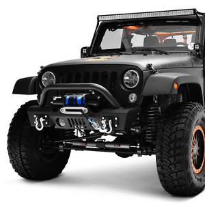 Paramount Off-Road S3 Stubby Black Front Winch Bumper