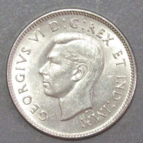 CANADA 1937 FIVE CENTS ATTRACTIVE CH AU-BU
