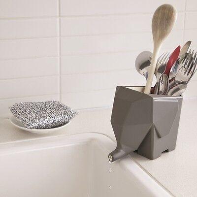 Peleg Design Jumbo Cutlery Drainer NEW/OVP Abtropfgefäß NEU/OVP Grey Gray Grau
