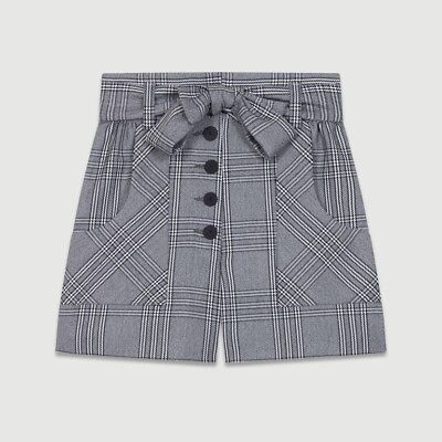 maje SHORTS WITH PRINCE OF WALES PRINT, new with tag, size 36/size S Prince Shorts