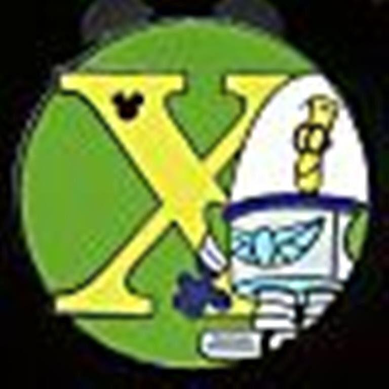 X XR Space Rangers Alphabet from Toy Story Hidden Mickey Disney Pin 66620